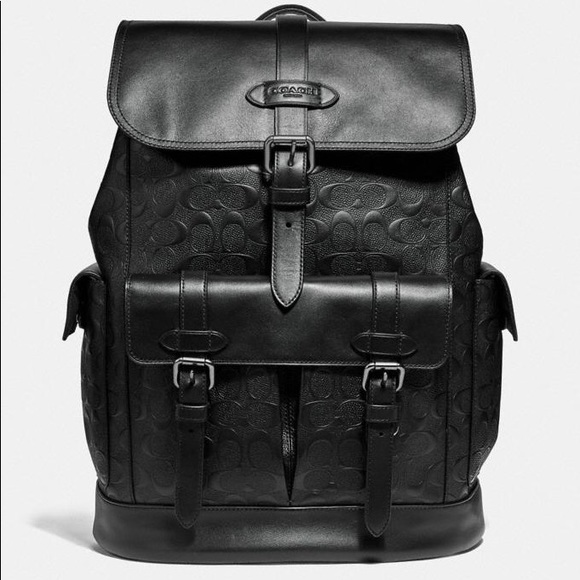 Coach Other - Coach Hudson Backpack In Signature Leather Black